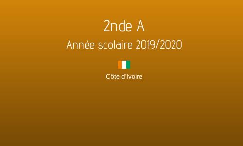 2nde A - Année scolaire 2019/2020