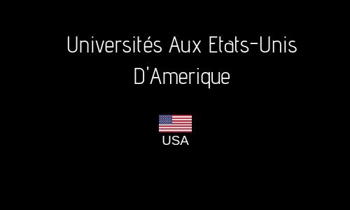 UNIVERSITÉS AUX ETATS-UNIS D'AMERIQUE