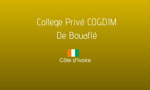 COLLEGE PRIVE COGDIM DE BOUAFLE